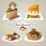 Sweets dessert set — Stock Vector #50649791