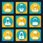 Professional avatar icons set — Stock Vector #50649857