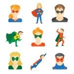 Постер, плакат: Superhero icon flat