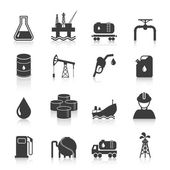 Oil Industry Icons — Stock Vector