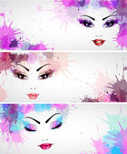 Set of fashion banners — Stock Vector