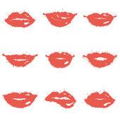 Satz von lippen — Stockvektor