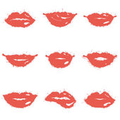 Set of lips — Stock Vector