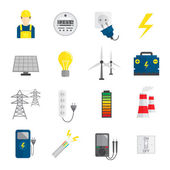 Set of Electricity Icons — Stock Vector