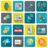 Set of media icons — Stock Vector