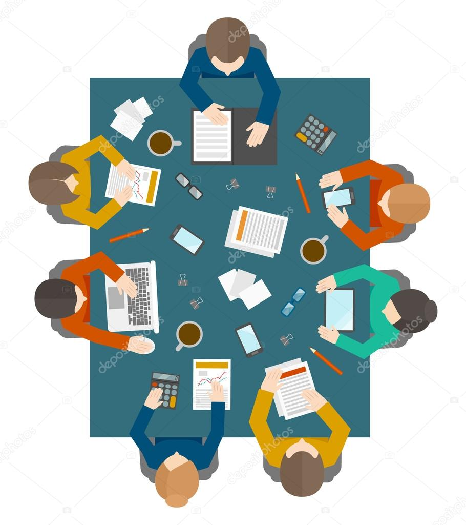 Herunterladen business meeting in draufsicht stockillustration