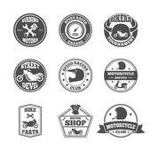 Biker label set — Vettoriale Stock