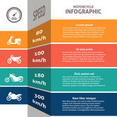 Biker infographic classification chart — Stock Vector