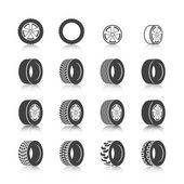 Tire icon set — Cтоковый вектор