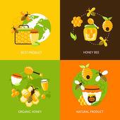 Honey icons set — Stock Vector