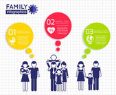 Infographics design with family — Stock Vector