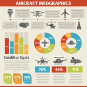 Aircraft icons infographic — Stockvektor