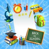 Back to school concept template — Stock Vector