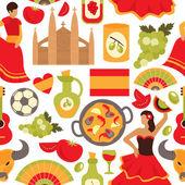 Spain seamless pattern — Stock Vector