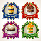 Sweets ribbon banners — Vetorial Stock