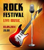 Rock concert poster — Stock Vector