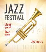 Jazz concert poster — Stockvector