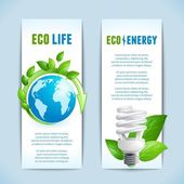 Ecology vertical banners — Stock Vector