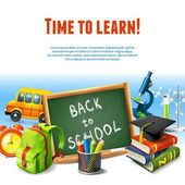 Back to school border — Stock Vector