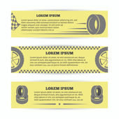Tire banners set — Stock Vector