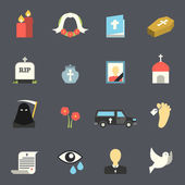 Funeral Icons Set — Vecteur