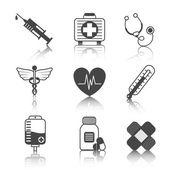 Medicine Icons Set — Stock Vector