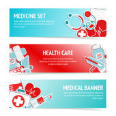 Medical health care banners — Stock Vector