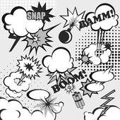 Pop art comic background — Stock Vector