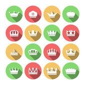 皇冠图标集 — 图库矢量图片