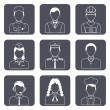 Professional avatar icons set — Stock Vector #51501125