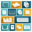 Book Icons Set — Stock Vector #51501153