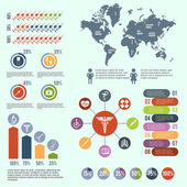 Medical healthcare infographic — Stockvektor
