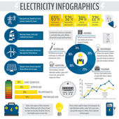 Electricity infographic — Stock Vector
