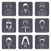 Professional avatar icons set — Stock Vector