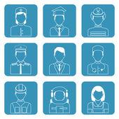 Professional avatar icons set — Vecteur