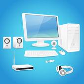 Computer and accessories — Vecteur