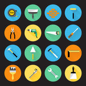 Builder Instruments Icons — Stock Vector