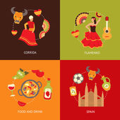 Spain icons composition set — Stock Vector