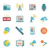Media Flat Icons — Stok Vektör