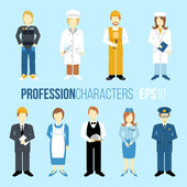 Proffession characters set — Stock Vector