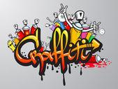 Graffiti characters print — Stock Vector