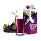 Grape juice set — Stock Vector