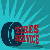 Tire service poster — Stock Vector