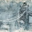 Tower bridge London, digital art — Stock Photo
