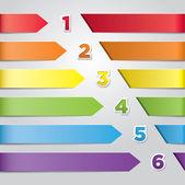 Colorful Vector Arrows — Stock Vector