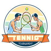 Emblem of tennis tournament — Stock Vector