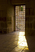 Sun Light pass the prison window — Stock Photo
