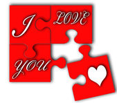 I love you puzzle — Stock Photo