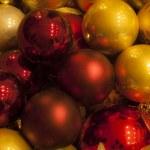 New years decoration balls — Stock Photo