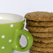 Stock Photo: Cookies with milk